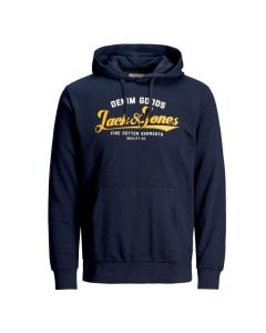 Jack and Jones Logo Hoodie - Navy