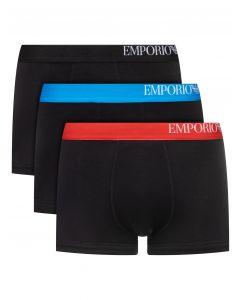 Emporio Armani 3-Pack Name Boxer Black Mix