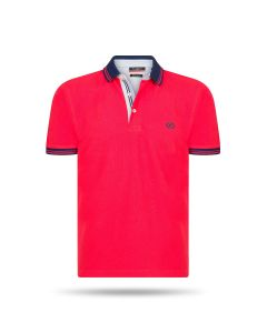 Pierre Cardin - Navy Tipped Polo Rood