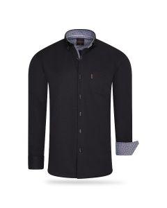 Cappuccino Italia Regular Fit Overhemd Black