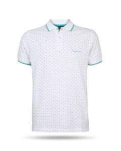 Pierre Cardin - Dotted Polo Wit