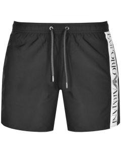 Emporio Armani Swim Short Side Logo Black