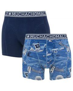 Muchachomalo Boxers 2-Pack Blauw/Wit/Print