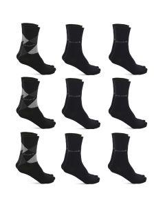 Pierre Cardin 9 Paar Casual Sokken Zwart Geruit