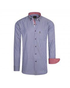 Cappuccino Italia Regular Fit Overhemd Navy Striped
