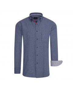 Cappuccino Italia Regular Fit Overhemd Navy Dotted