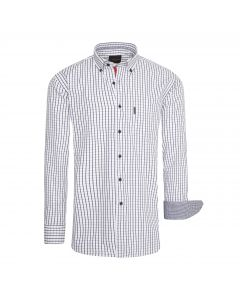Cappuccino Italia Regular Fit Overhemd Wit Checked