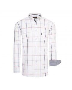 Cappuccino Italia Regular Fit Overhemd Wit Big Check