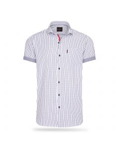 Cappuccino Italia Short Sleeve Blouse Wit Checked