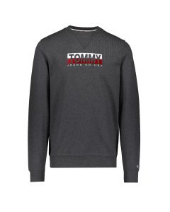 Tommy Hilfiger Essential Split Box Logo Sweat Antraciet