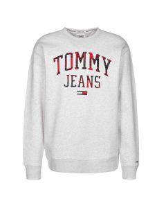 Tommy Hilfiger Plaid Logo Sweat Grijs
