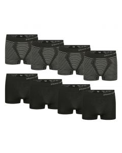 Pierre Cardin 8-Pack Seamless Boxers Black Striped