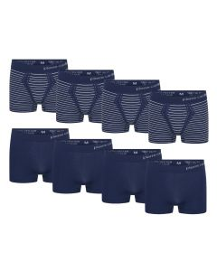 Pierre Cardin 8-Pack Seamless Boxers Blue Striped