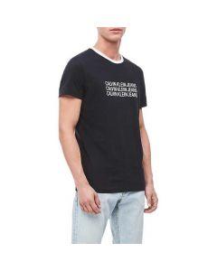 Calvin Klein Repeat Logo Tee Black