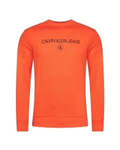 Calvin Klein Archive Logo Sweat Oranje