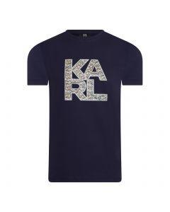 Karl Lagerfeld Library Logo Shirt - Navy