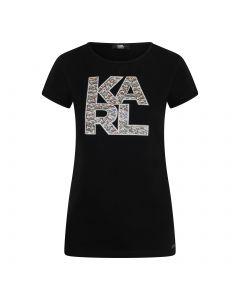 Karl Lagerfeld Library Logo Shirt - Zwart