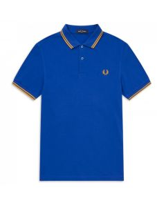 Fred Perry Twin Tipped Polo Cobalt