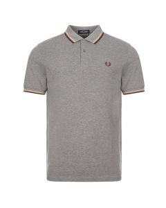 Fred Perry Twin Tipped Polo Grey Marl
