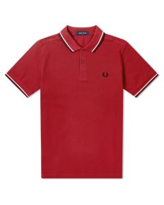 Fred Perry Twin Tipped Polo Rich Red