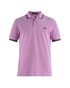 Fred Perry Twin Tipped Polo Bubblegum/Wht/Ox
