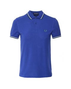 Fred Perry Twin Tipped Polo Nautical Blue