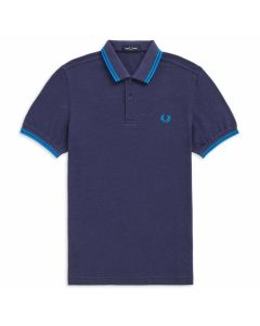 Fred Perry Twin Tipped Polo Dahlia/Blk/King