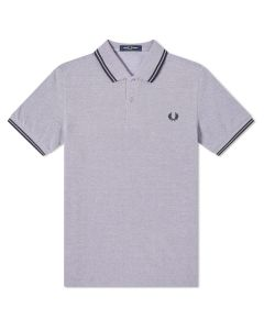 Fred Perry Twin Tipped Polo Dahlia/White/Navy