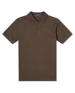 Fred Perry Twin Tipped Polo Liqrce/Bgrn/Roso