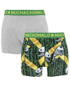 Muchachomalo Boxers 2-Pack Grijs/Groen/Print