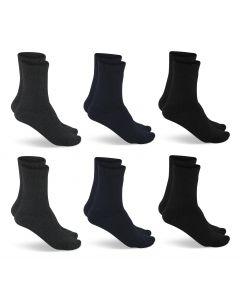 Primair Socks 6 Paar Thermo Sokken Antraciet/Navy/Zwart