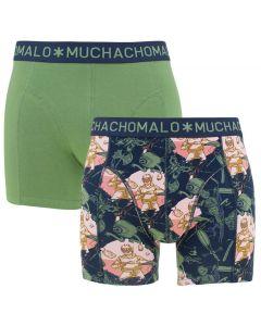 Muchachomalo Boxers 2-Pack Blauw/Groen/Print