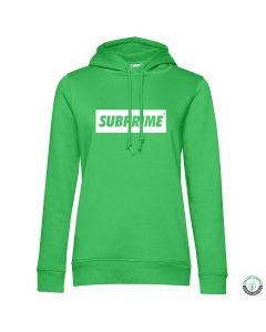Subprime Wmn Hood Block Appel Groen