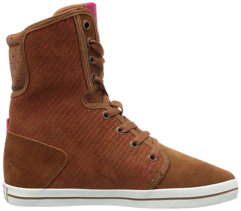 Dames sneakers van het merk le coq sportif in de kleur tortoise shell. de sneakers zijn gemaakt van leer en ...