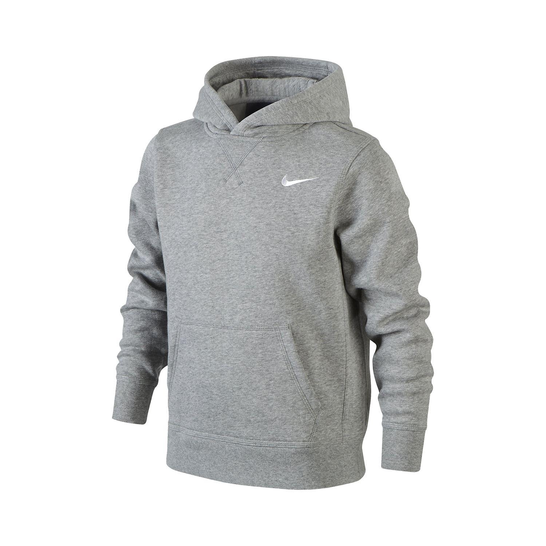 Nike hoodie voor jongens. de hoodie is gemaakt van katoen en polyester, hierdoor is de trui warm maar ademt ...