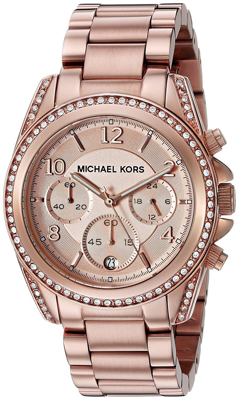 Dames horloge van het merk michael kors in de kleur brons. het horloge is gemaakt van edelstaal. de band is ...
